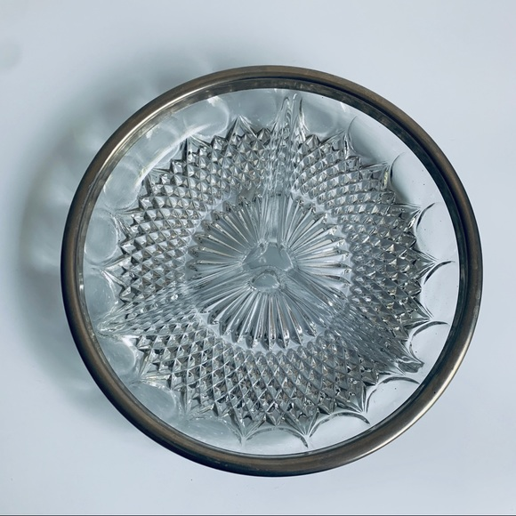 Vintage Other - Vintage Crystal Tray Dish